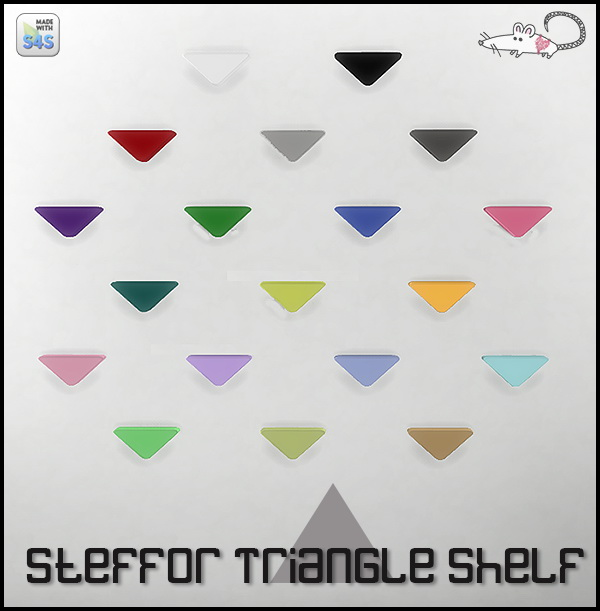 Sims 4 Steffor triangle shelf at Loverat Sims4