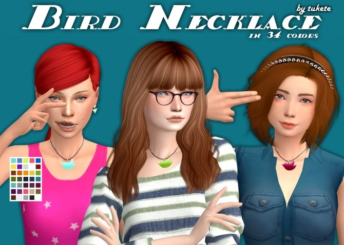 Bird Necklace Conversion at Tukete image 2873 670x478 Sims 4 Updates