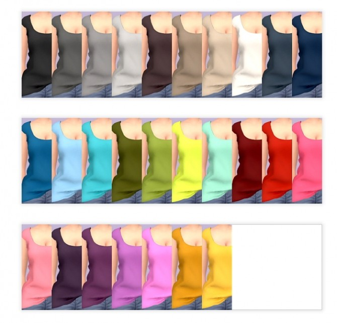 Sims 4 Half Tuck Top Recolors at Tukete