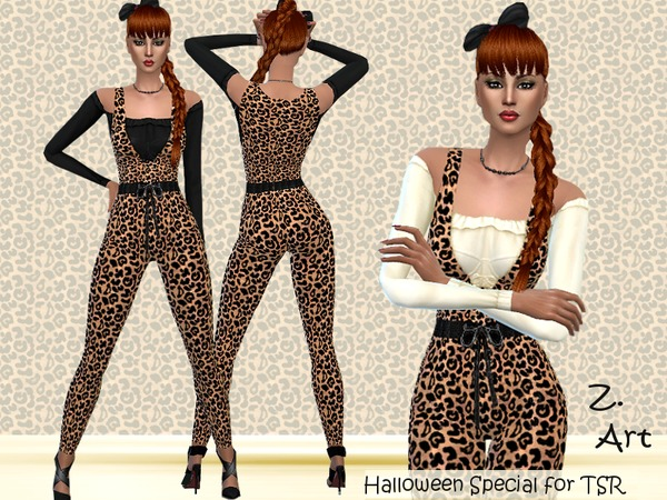 Sims 4 Pussycat outfit by Zuckerschnute20 at TSR