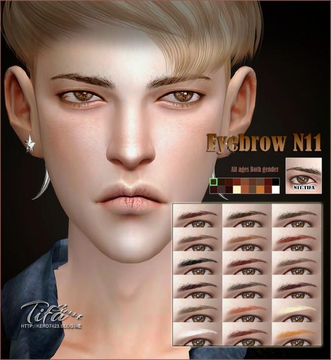 Sims 4 Eyebrow N11 M/F at Tifa Sims
