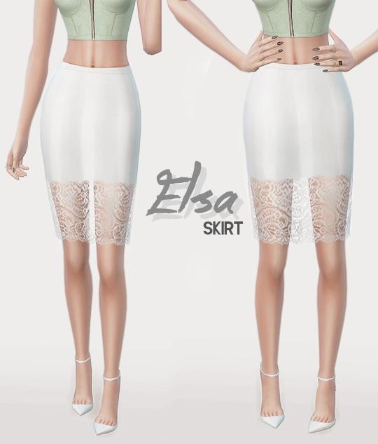 Sims 4 ELSA SKIRT at Leeloo