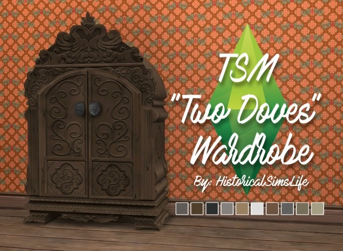Sims 4 TSM to TS4 Two Doves Wardrobe Conversion by Anni K at Historical Sims Life