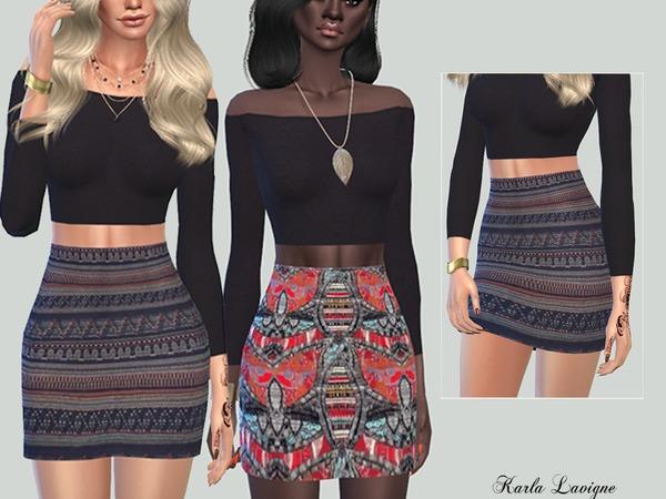 Sims 4 Etnique Skirt by Karla Lavigne at TSR