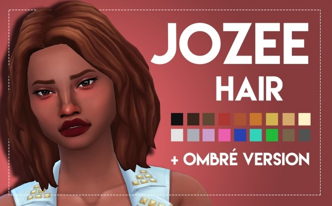 Jozee Hair by Weepingsimmer at SimsWorkshop image 3024 670x416 Sims 4 Updates