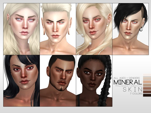 Sims 4 PS Mineral Skin by Pralinesims at TSR