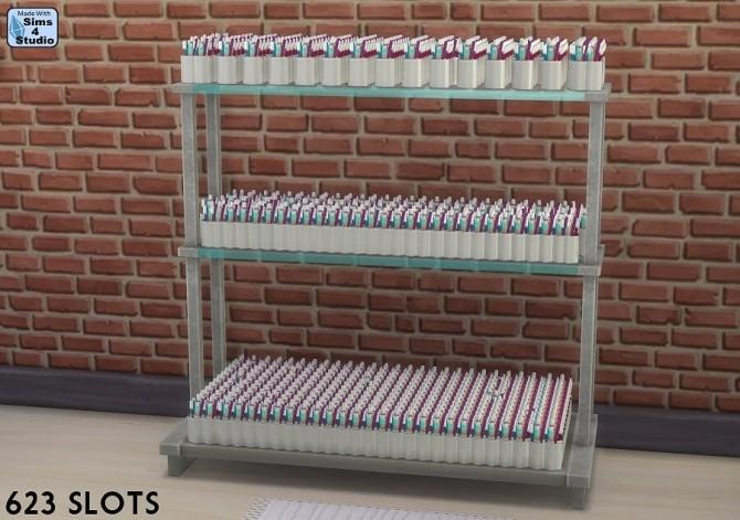 Sims 4 Mucho Modern Display Shelves more slots at Sims 4 Studio