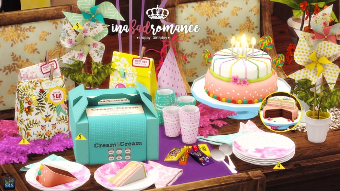 Happy Birthday Mini Set At In A Bad Romance 187 Sims 4 Updates