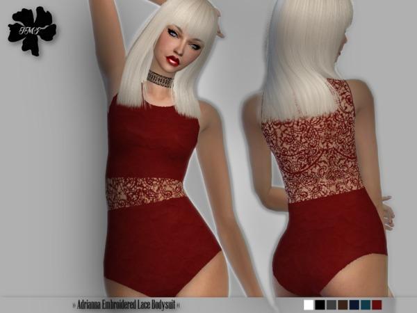 Sims 4 IMF Adrianna Bodysuit by IzzieMcFire at TSR