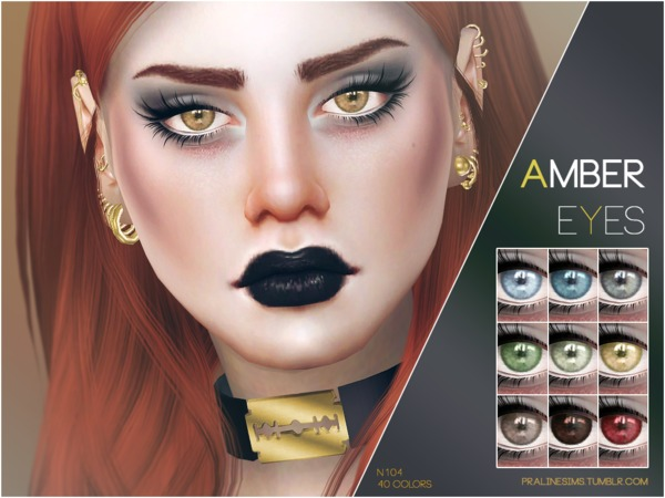 Sims 4 Amber Eyes N104 by Pralinesims at TSR