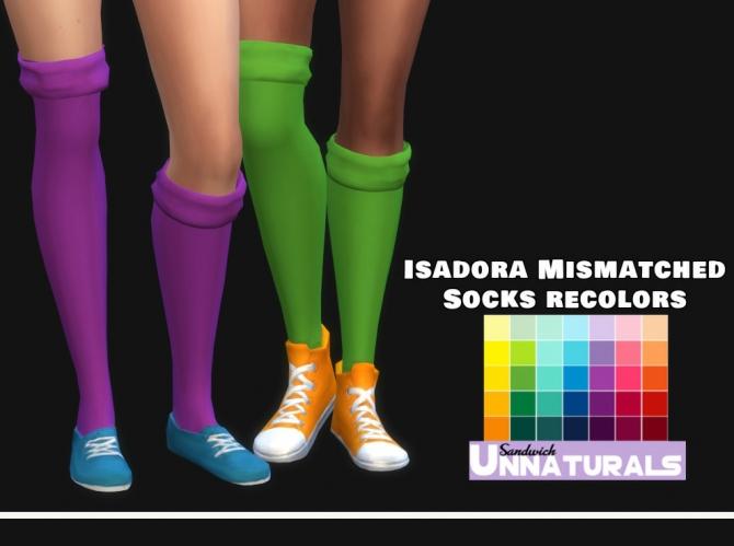 Isadora Mismatched Socks Recolors At Maimouth Sims4 187 Sims
