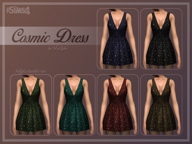 Cosmic Dress at Trillyke image 3221 670x503 Sims 4 Updates