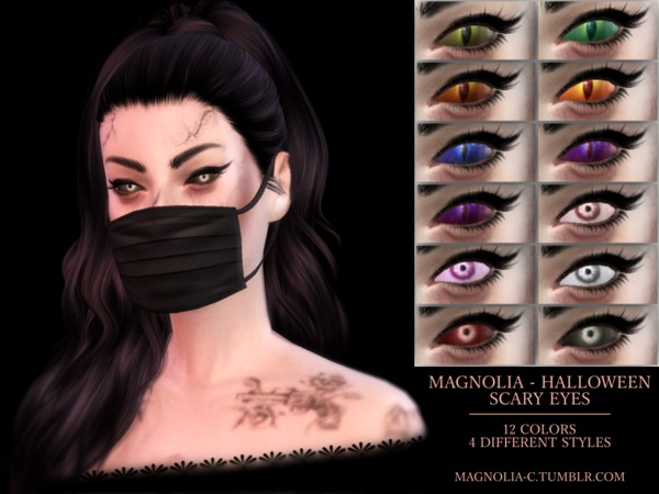 Sims 4 Halloween Scary Eyes by magnolia c at TSR