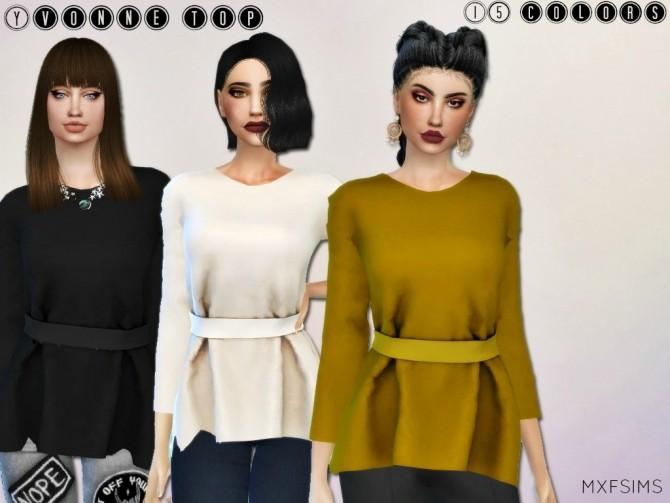 Sims 4 YVONNE TOP at MXFSims