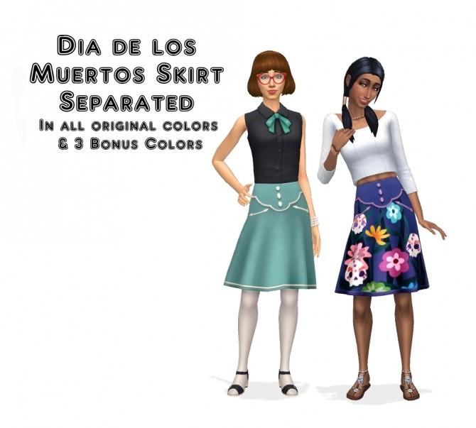 Dia de los Muertos Skirt Separated by VentusMatt at Mod The Sims image 327 670x603 Sims 4 Updates