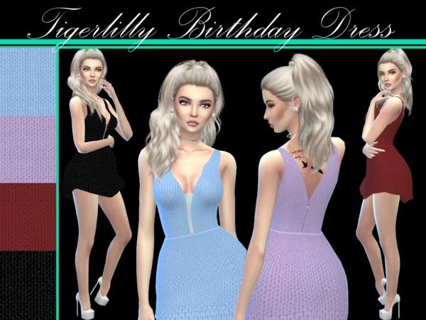 Sims 4 21st Birthday Dress by tigerlillyyyy at TSR