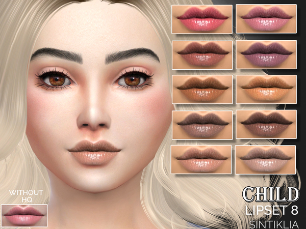 Sims 4 Child lipset 8 by Sintiklia at TSR