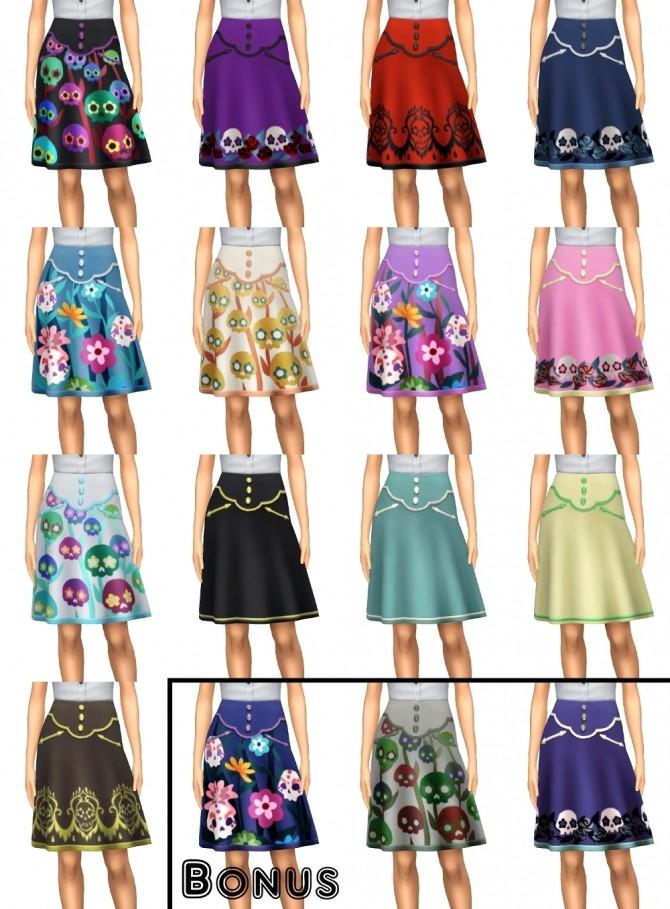 Dia de los Muertos Skirt Separated by VentusMatt at Mod The Sims image 336 670x909 Sims 4 Updates