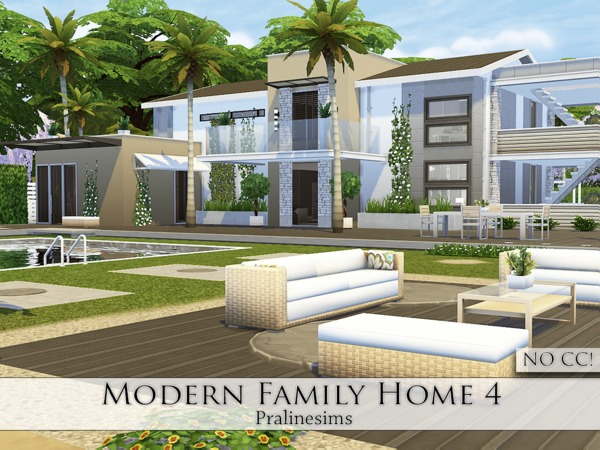 Sims 4 Modern Family Home 4 by Pralinesims at TSR