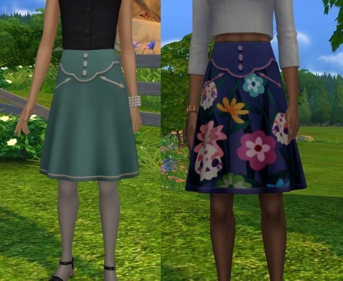Dia de los Muertos Skirt Separated by VentusMatt at Mod The Sims image 346 670x550 Sims 4 Updates