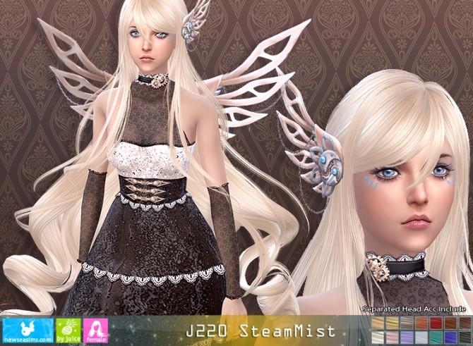 Sims 4 J220 SteamMist hair + acc (Pay) at Newsea Sims 4