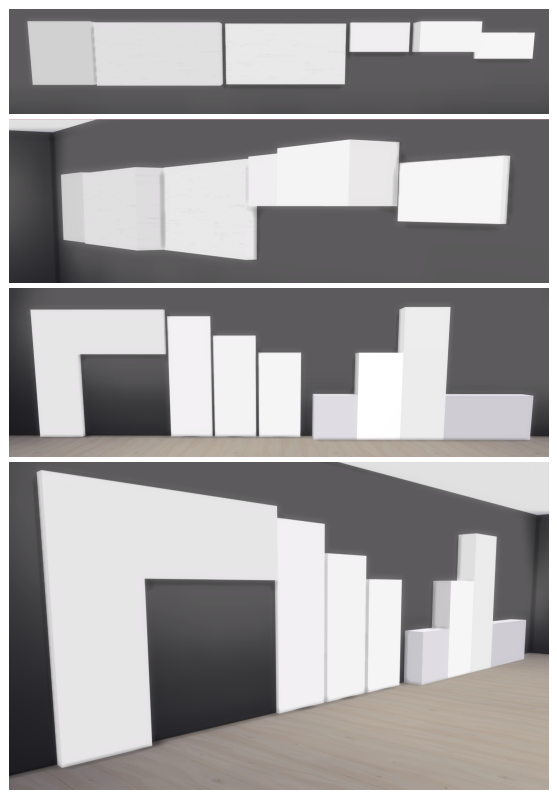 Sims 4 14 Wall Deco Pieces by Sympxls at SimsWorkshop