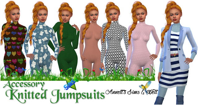 Sims 4 Knitted Jumpsuits at Annett's Sims 4 Welt