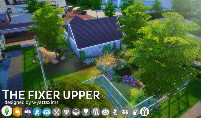 Sims 4 The Fixer Upper house by WyattsSims at SimsWorkshop