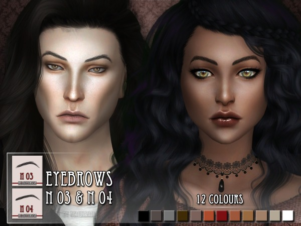 Eyebrows N03 and N04 by RemusSirion at TSR image 394 Sims 4 Updates