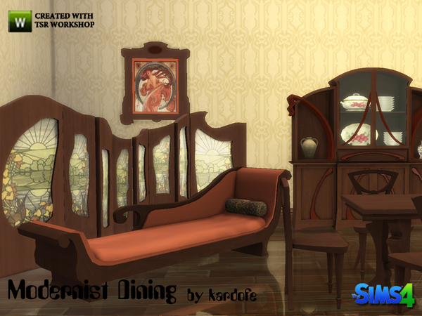 Sims 4 Modernist Dining by kardofe at TSR