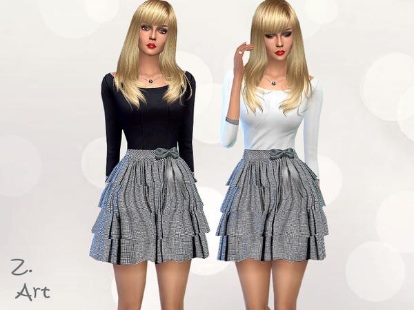 Sims 4 Mini Square dress by Zuckerschnute20 at TSR