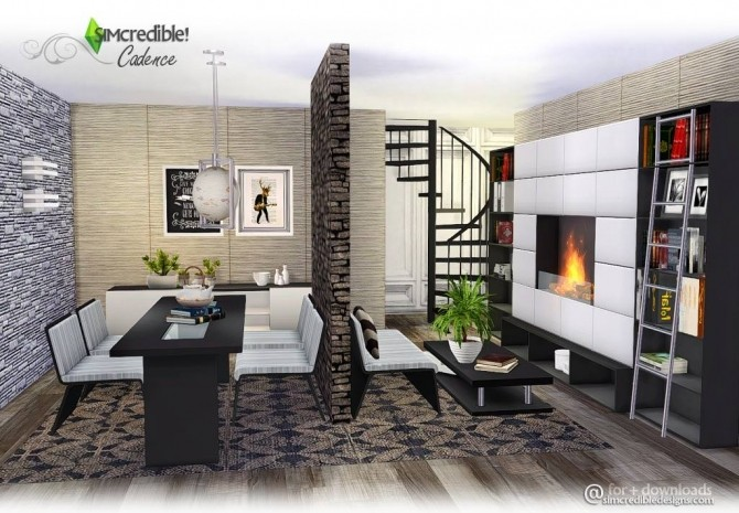 Cadence Diningroom At Simcredible Designs 4 187 Sims 4 Updates
