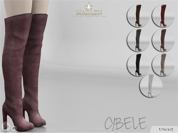 Sims 4 Madlen Cybele Boots by MJ95 at TSR