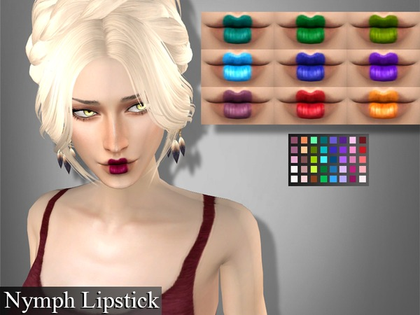 Sims 4 Genius Nymph Lipstick by Genius666 at TSR
