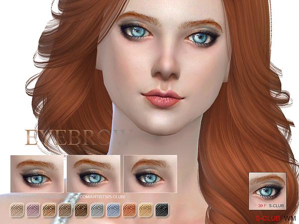 Sims 4 Eyebrows 39F by S Club WM at TSR