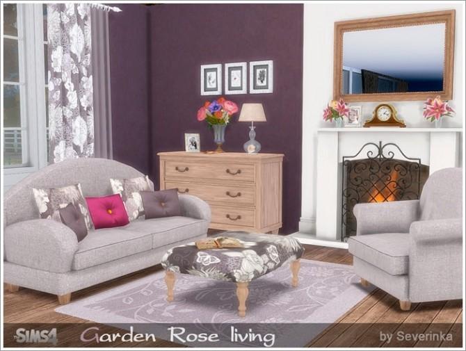 Garden Rose livingroom at Sims by Severinka » Sims 4 Updates