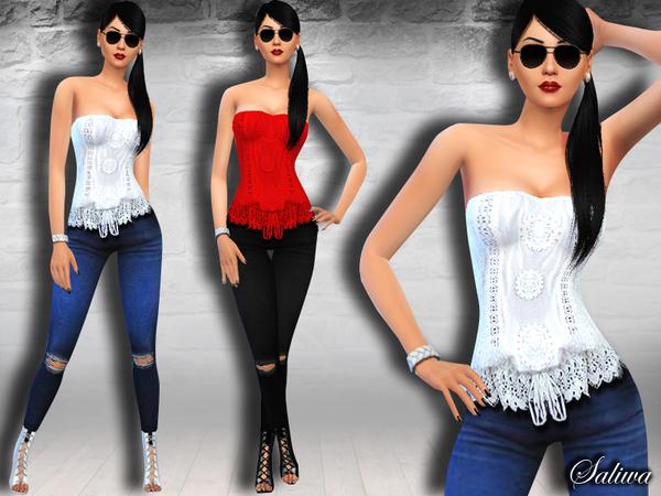 Sims 4 Summer Casual outfit by Saliwa at TSR