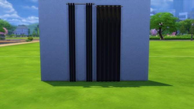 Curtain in black by highbythebevch at Mod The Sims image 4310 670x377 Sims 4 Updates