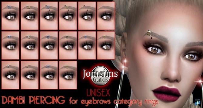 Sims 4 Dambi eyebrow piercings set at Jomsims Creations
