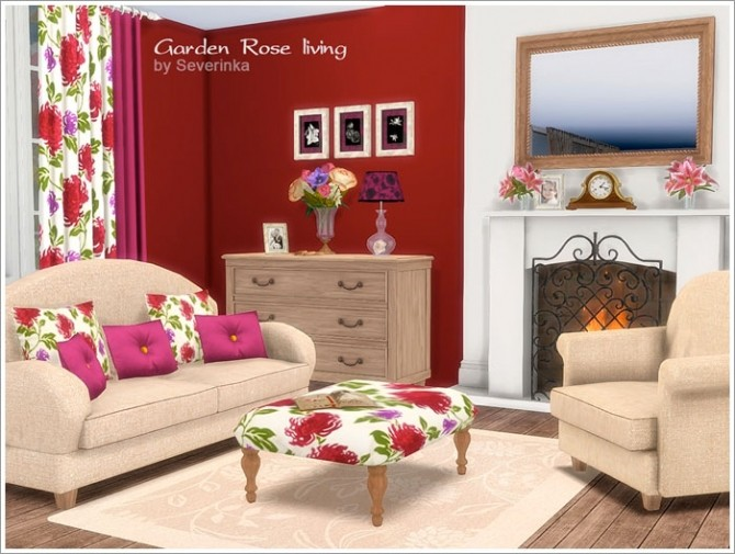 Garden Rose livingroom at Sims by Severinka image 435 670x505 Sims 4 Updates