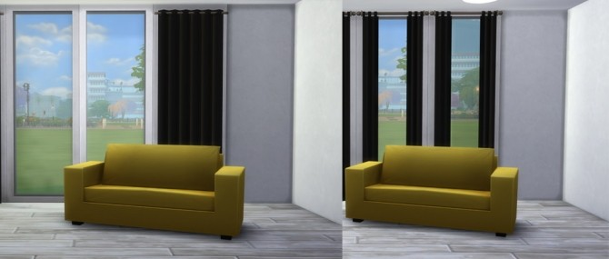 Sims 4 Curtain in black by highbythebevch at Mod The Sims