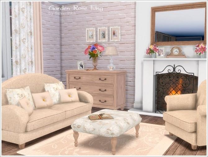 Sims 4 Garden Rose livingroom at Sims by Severinka