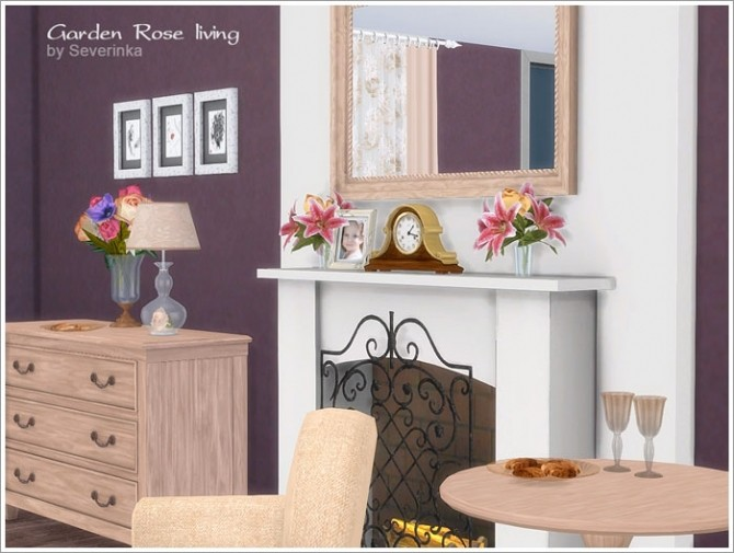 Garden Rose livingroom at Sims by Severinka image 455 670x505 Sims 4 Updates