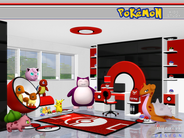 Pokemon Kids Study By Nynaevedesign At Tsr 187 Sims 4 Updates