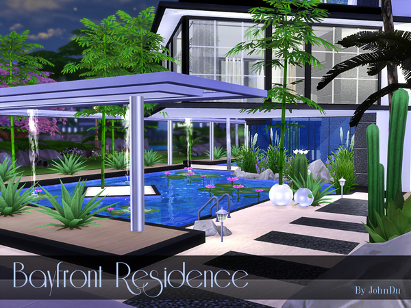 Sims 4 Bayfront Residence by johnDu at TSR