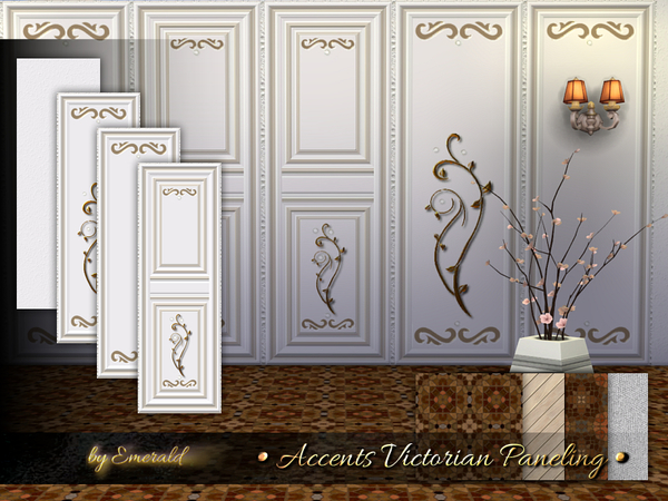 Accents Victorian Paneling by emerald at TSR image 4913 Sims 4 Updates