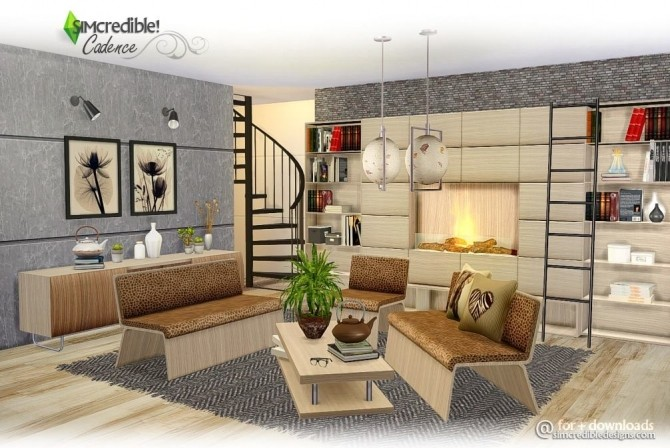 Cadence diningroom at SIMcredible! Designs 4 image 496 670x448 Sims 4 Updates
