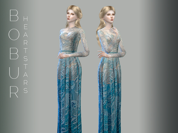 Heart stars gown by Bobur3 at TSR image 50 Sims 4 Updates