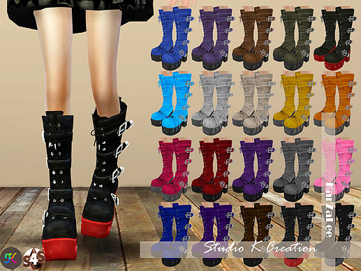 Sims 4 Marie Rose Gothic long boots at Studio K Creation