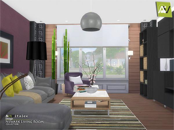 Newark Living Room By Artvitalex At Tsr Sims 4 Updates